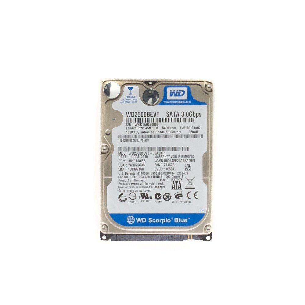 """Жесткий диск 2.5"""" 250 Gb WD2500BEVT"""
