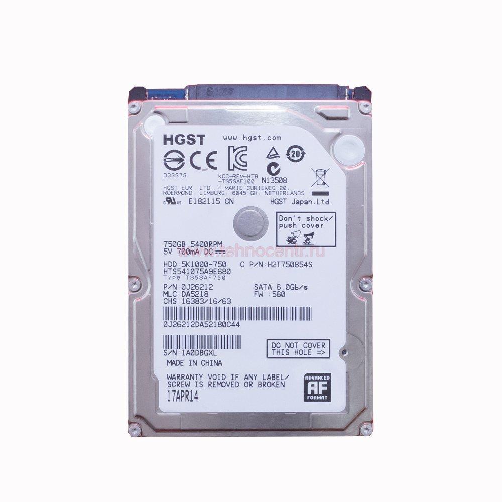"""Жесткий диск 2.5"""" 750 Gb Hitachi HTS541075A9E680"""