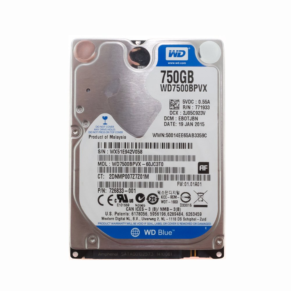 "Жесткий диск 2.5"" 750 Gb WD7500BPVX"
