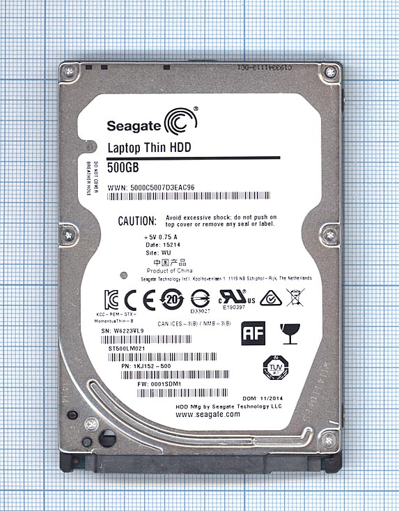 "Жесткий диск HDD 2,5"" 500GB Seagate ST500LM021"