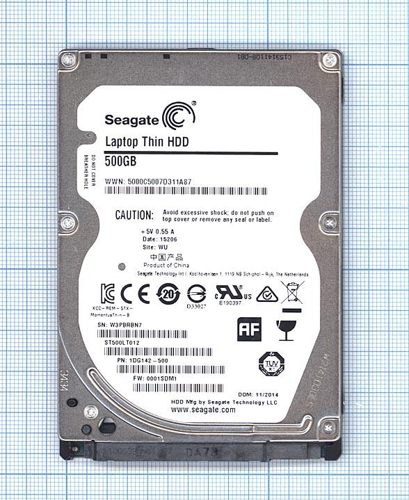 "Жесткий диск HDD 2,5"" 500GB Seagate Laptop Thin 500GB ST500LT012"