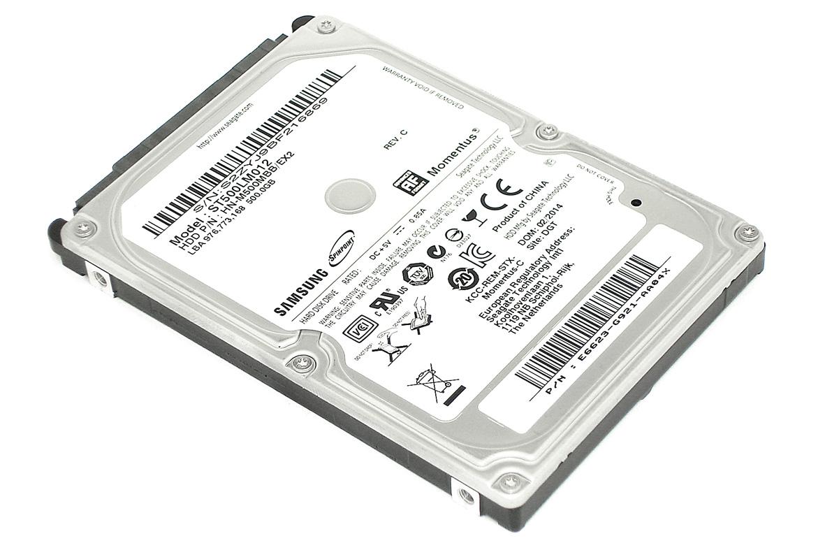 "Жесткий диск 2.5"" Samsung SEAGATE Momentus 500Гб, SATA II"