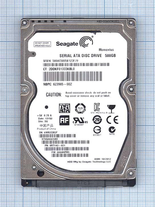 "Жесткий диск 2.5"" SEAGATE Momentus 7200.4,  500Гб, HDD, SATA II"