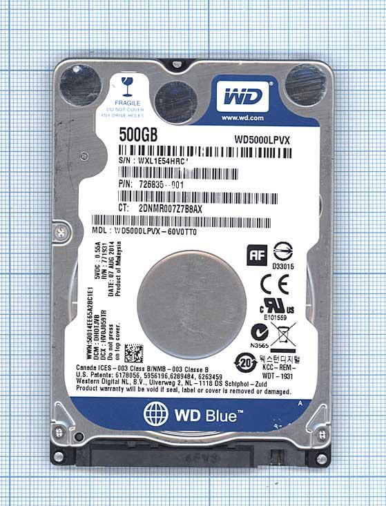 "Жесткий диск WD Scorpio Blue 2.5"", 500GB, SATA III"