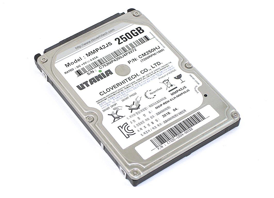 """Жесткий диск HDD 2,5"""" 250GB UTANIA MMP42JS"""