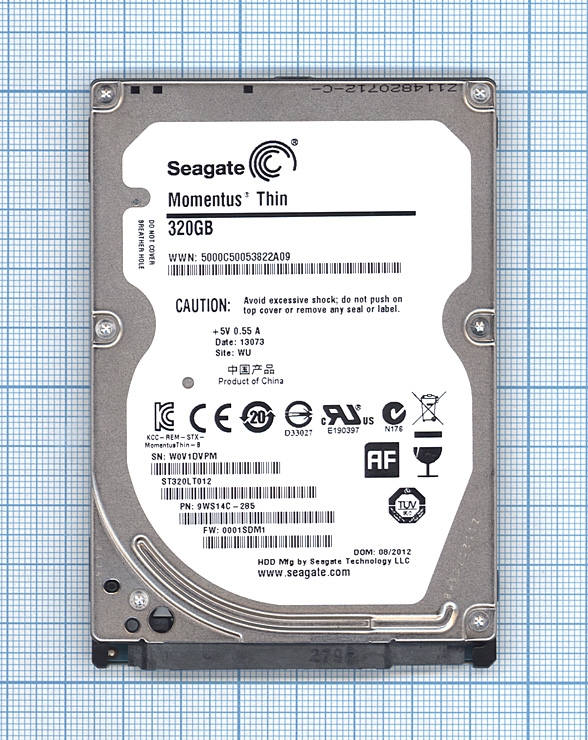 "Жесткий диск 2.5"" Seagate Momentus Thin 320GB, SATA II"