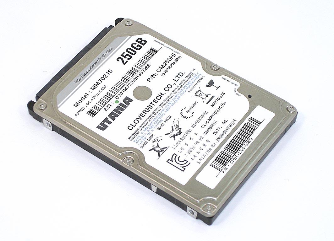 """Жесткий диск HDD 2,5"""" 250GB UTANIA MM702JS"""
