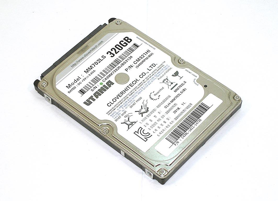 """Жесткий диск HDD 2,5"""" 320GB UTANIA MM702LS"""