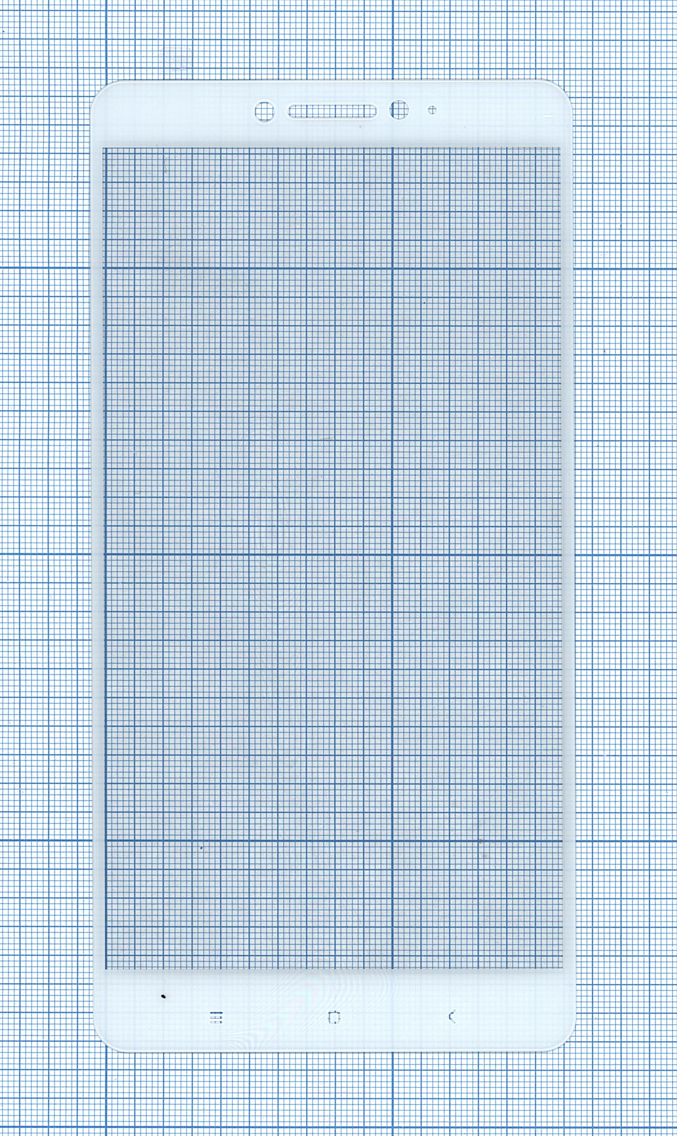 """Защитное стекло """"Полное покрытие"""" Xiaomi Mi Maxбелое"""