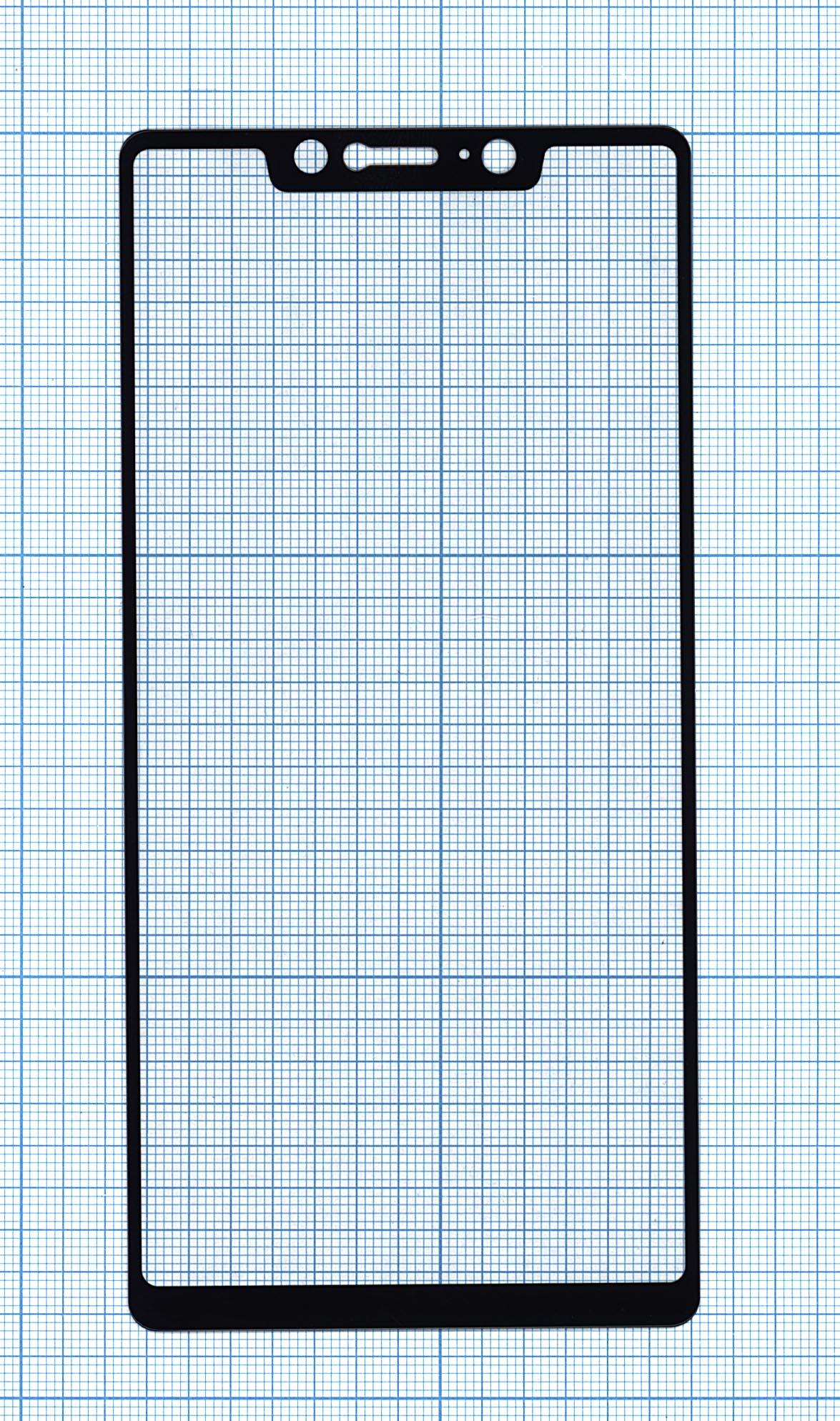 """Защитное стекло """"Полное покрытие"""" Xiaomi Mi8 SEчерное"""