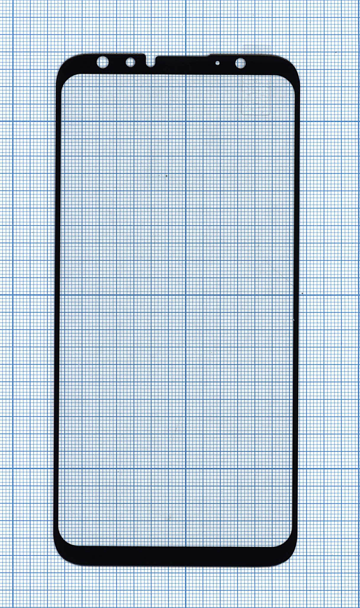 """Защитное стекло """"Полное покрытие"""" Meizu 16 (16X) черное"""