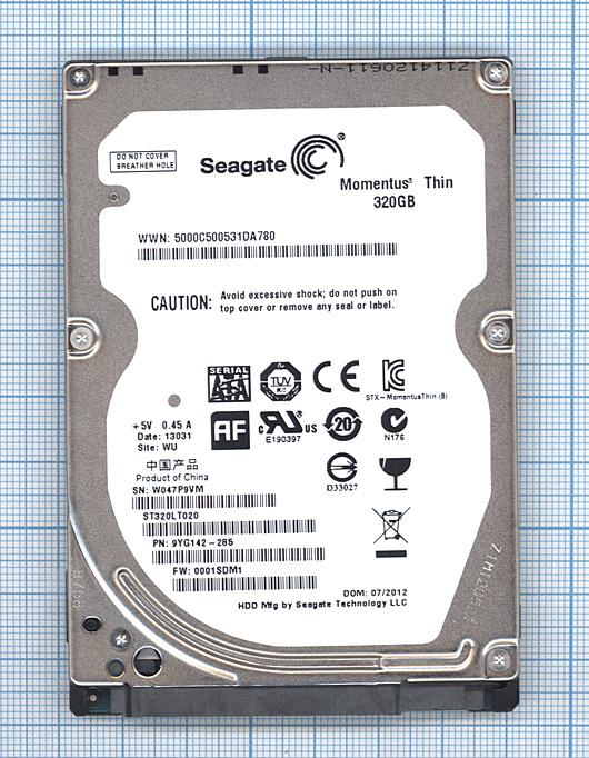 "Жесткий диск 2.5"" Seagate Momentus Thin 320GB SATA II"
