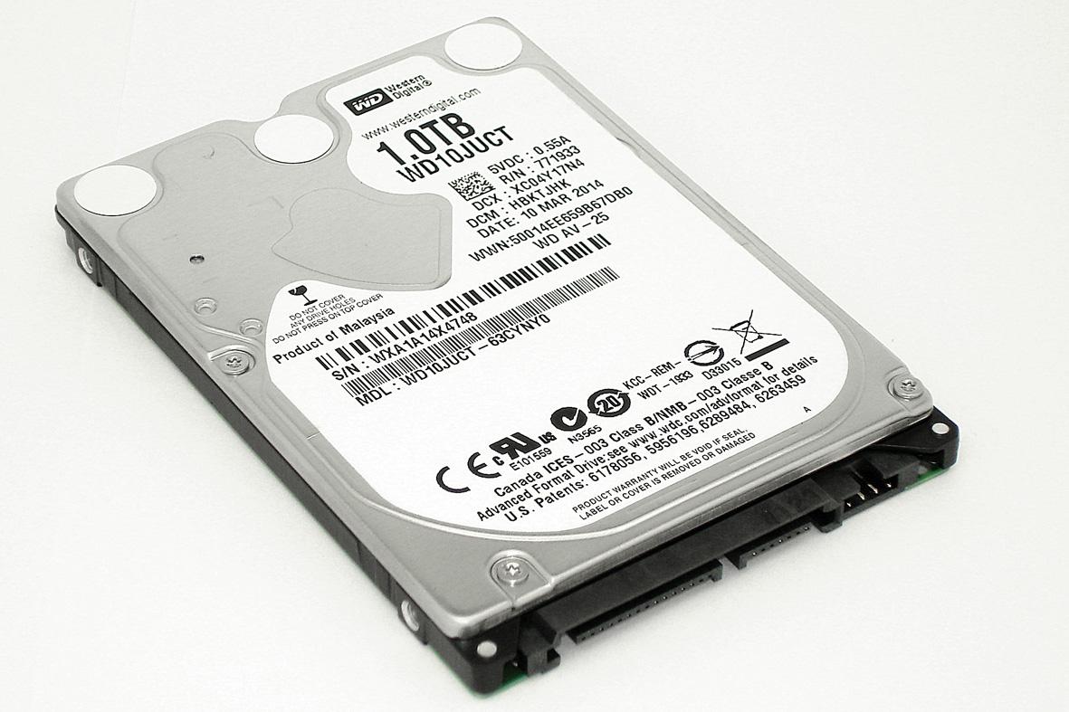 """Жесткий диск WD 2.5"""", 1TB, SATA II"""