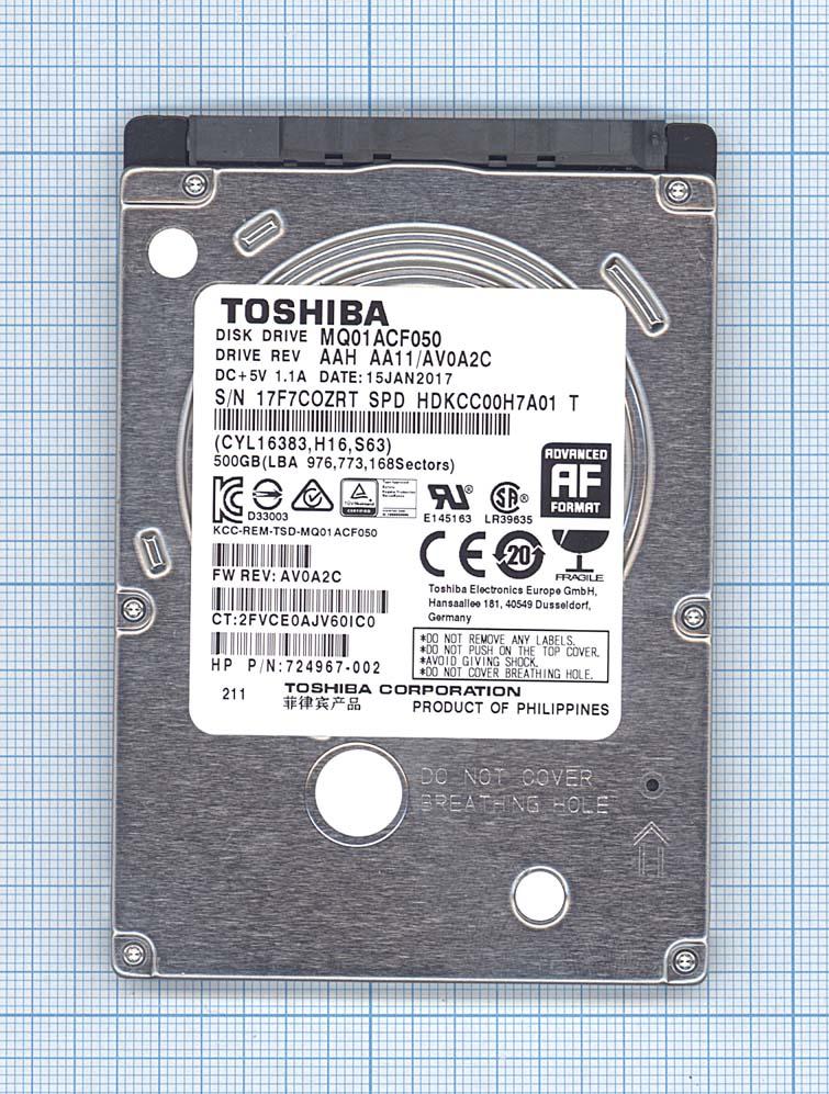 "Жесткий диск для Toshiba 2.5"" MQ01ACF050 500GB"