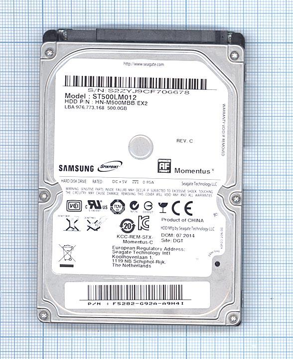 """Жесткий диск для Samsung Momentus 2.5"""", 500GB, ST500LM012"""