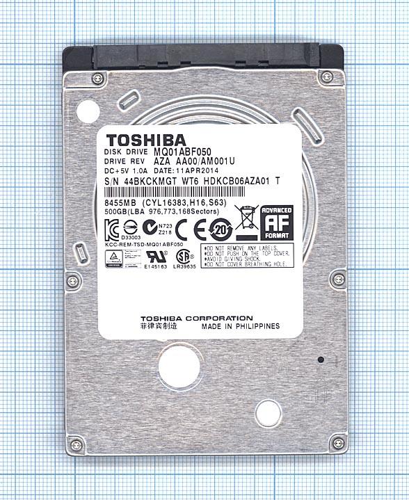 """Жесткий диск для Toshiba 2.5"""" MQ01ABF050 500GB"""