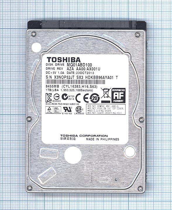 """Жесткий диск для Toshiba 2.5"""" MQ01ABD100 1TB"""
