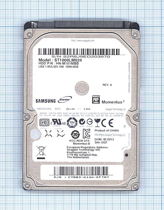 """Жесткий диск для Samsung Momentus 2.5"""", 1TB, ST1000LM024"""