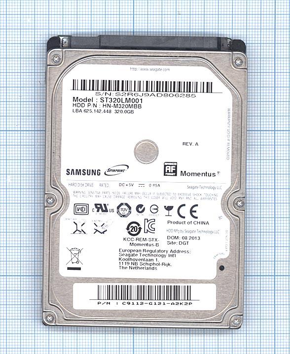 """Жесткий диск для Samsung Momentus 2.5"""", 320GB, ST320LM001"""