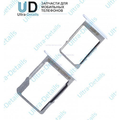 Контейнер SIM+MicroSD для Samsung A300F, A500F, A700FD (комплект 2 шт) (белый)