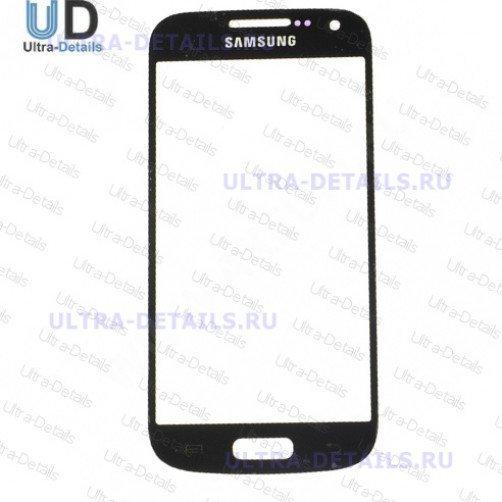 Стекло для Samsung i9190, i9192, i9195 (S4 mini) (черный)
