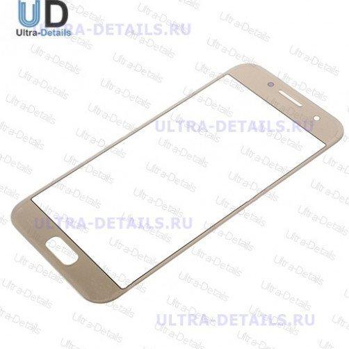 Защитное стекло для Samsung A320 золото