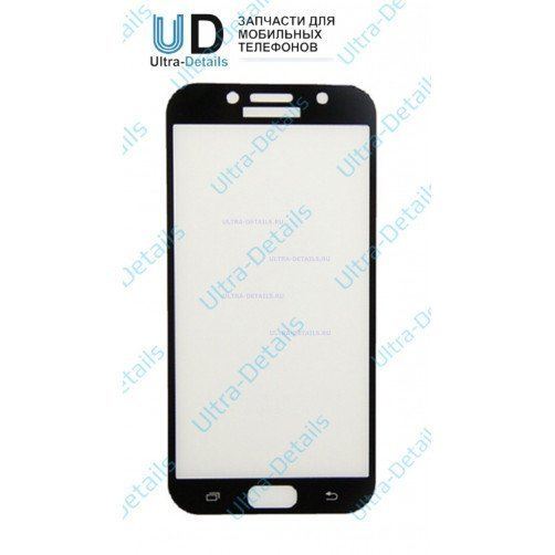 Защитное стекло для Samsung A720 черное