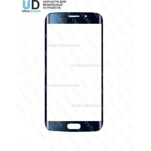 Защитное стекло для Samsung G925F (S6 Edge) (синий)
