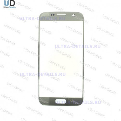 Защитное стекло для Samsung S7 (G930) серебро Оригинал