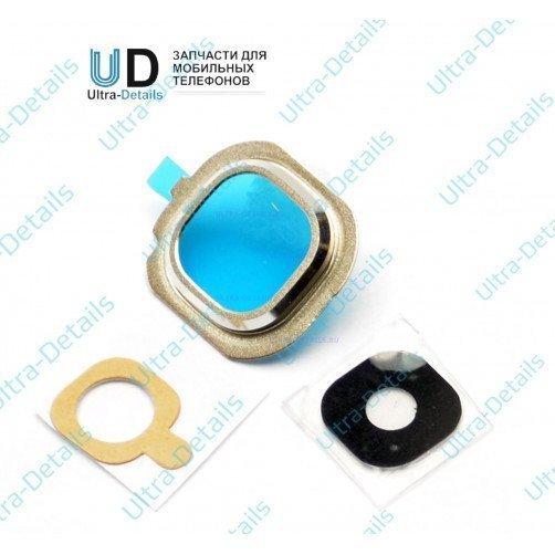 Стекло камеры для Samsung J710 золотой