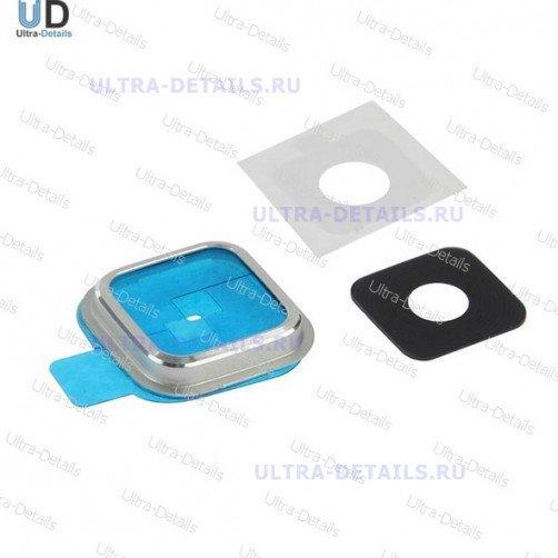 Стекло камеры для Samsung S5 серебро