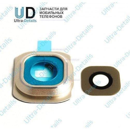 Стекло камеры для Samsung S6 (золотой)