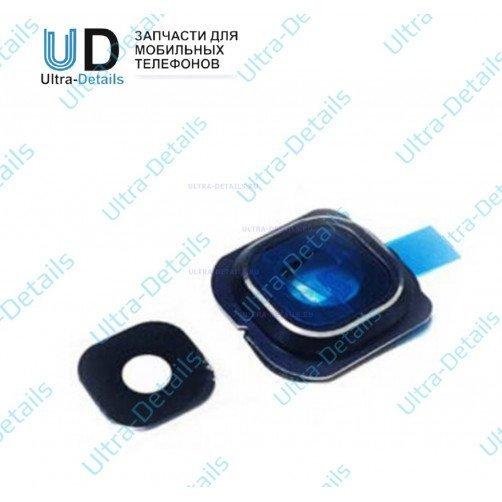 Стекло камеры для Samsung S6 (синий)