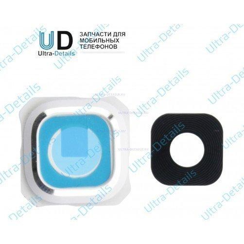 Стекло камеры для Samsung S6 Edge+ (белый)
