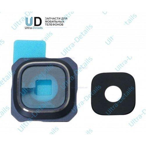 Стекло камеры для Samsung S6 Edge+ (синий)