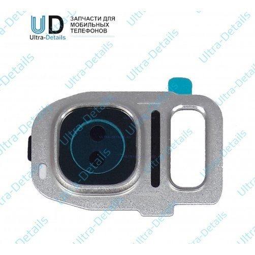 Стекло камеры для Samsung S7 (серебро)