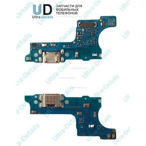 Шлейф для Samsung A015F (A01) плата системный разъем, разъем гарнитуры, микрофон