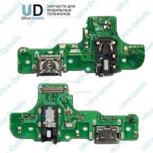 Шлейф для Samsung A207F (A20s) плата системный разъем, разъем гарнитуры, микрофон
