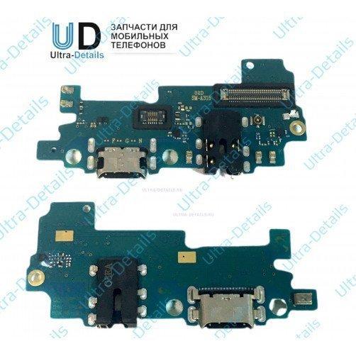 Шлейф для Samsung A315F (A31) плата системный разъем, разъем гарнитуры, микрофон