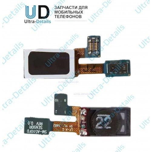 Шлейф для Samsung A510F , A510FD , A510M Galaxy A5 (2016) с слуховым динамиком (Speaker) и датчиком приближения