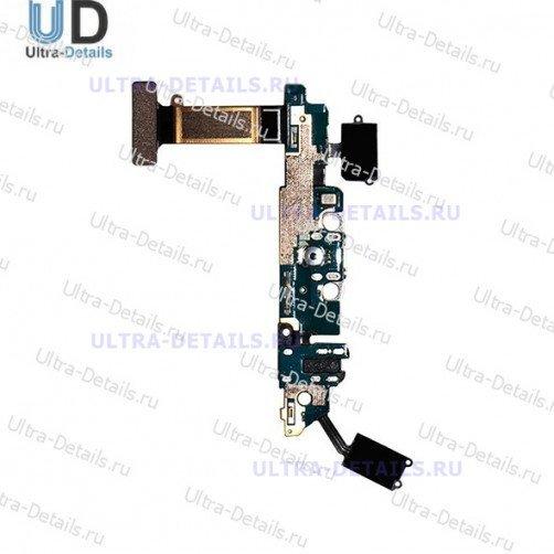 Шлейф для Samsung G920F, G920FD (S6, S6 Duos) плата системный разъем, разъем гарнитуры, микрофон, HOME