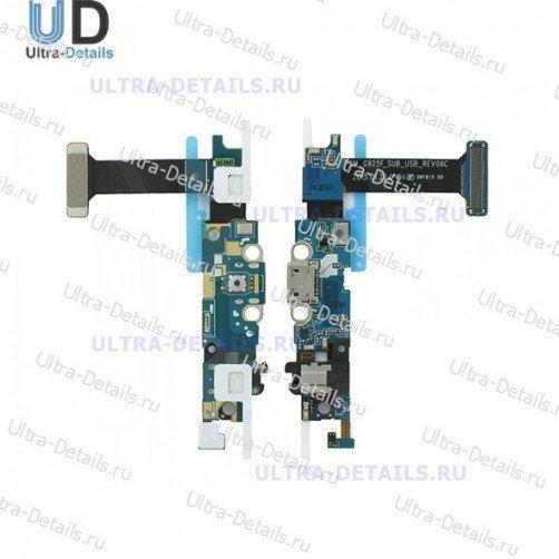 Шлейф для Samsung G925F (S6 Edge) плата системный разъем, разъем гарнитуры, микрофон, HOME