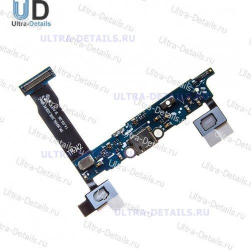 Шлейф для Samsung N910C (Note 4) плата системный разъем, микрофон