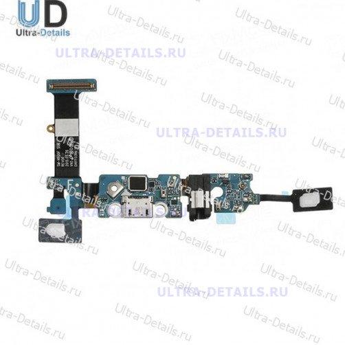 Шлейф для Samsung N920C (Note 5) плата системный разъем, разъем гарнитуры, микрофон, HOME