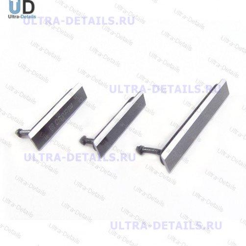 Набор заглушек для (USB+MicroSD) Sony C6903 (Z1) (серебро)