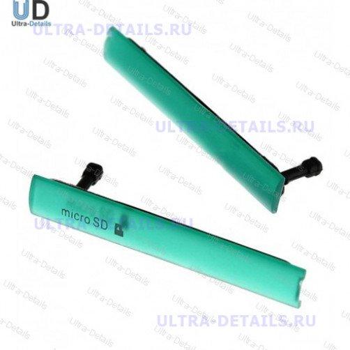 Набор заглушек для (USB+MicroSD) Sony D5803 (Z3 Compact) (зеленый)