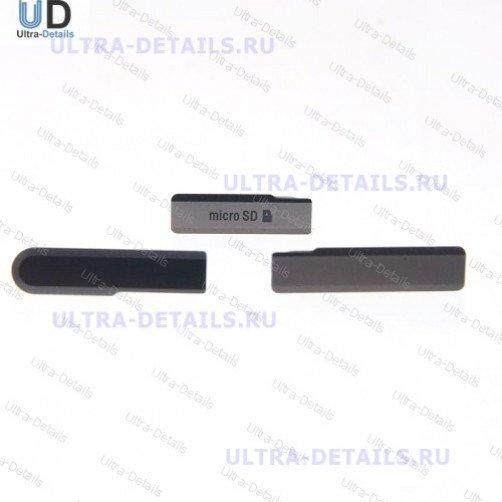 Набор заглушек для Sony Z1 compact черный