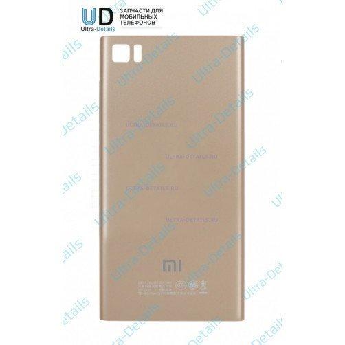 Задняя крышка для Xiaomi Mi3 (золотой)