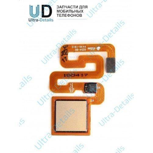 Шлейф для Xiaomi Redmi note 4X сканер отпечатка пальца (золотой)