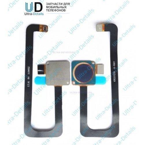 Шлейф для ZTE Axon 7 сканер отпечатка пальцев серый